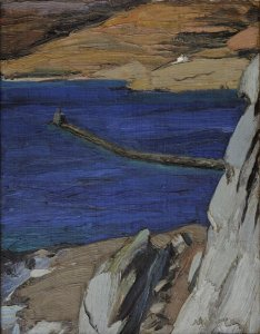 Nikos Lytras, Le Phare, 1925-1927, oil on canvas, 52 x 42 cm, The National Gallery-Alexandros Soutzos, Athens